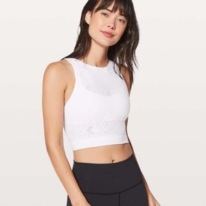 Lululemon crop top, lace tank top